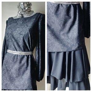 Sparkle VINTAGE Flapper TwoPiece Dress